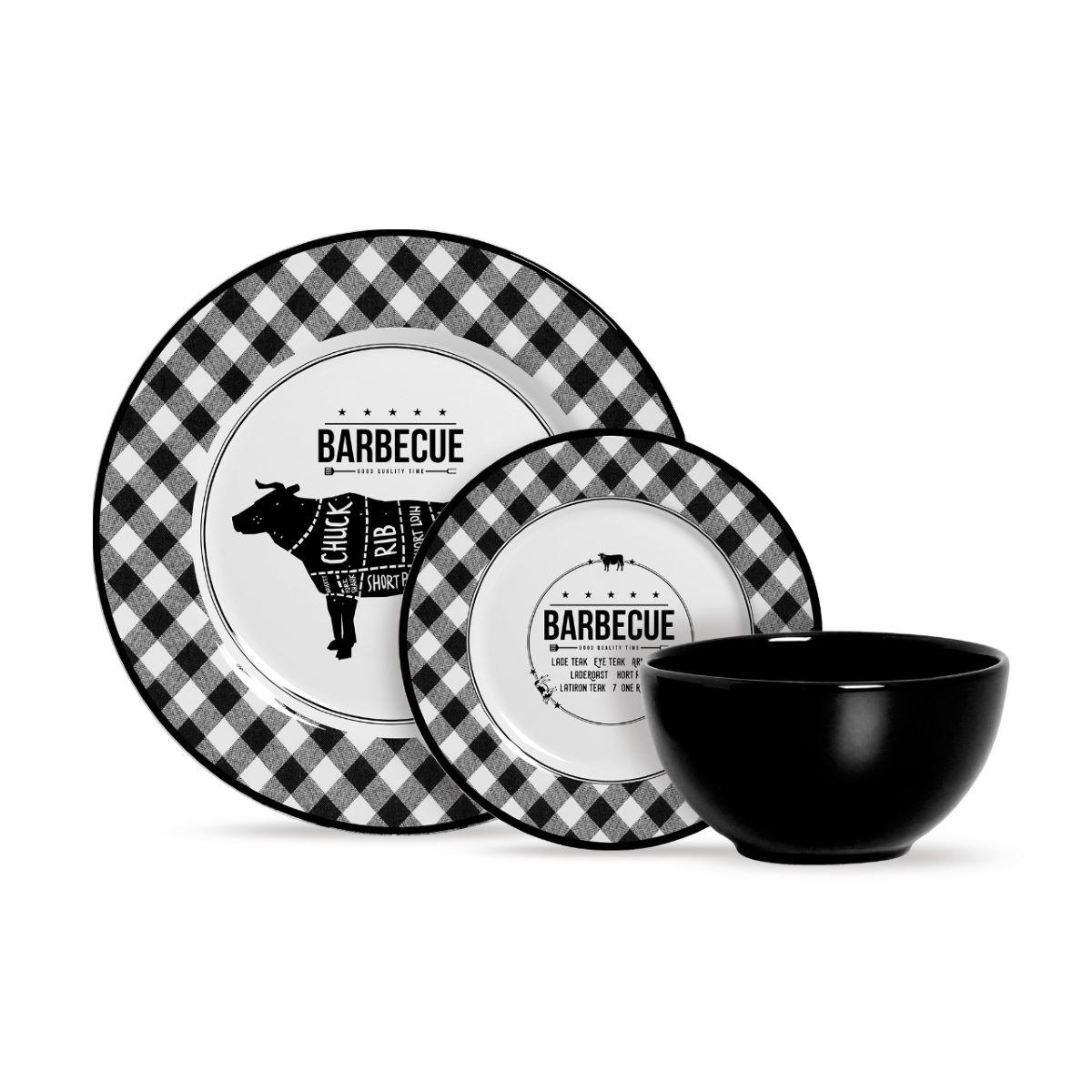 Aparelho de Jantar Cerâmica Barbecue 12 Pç