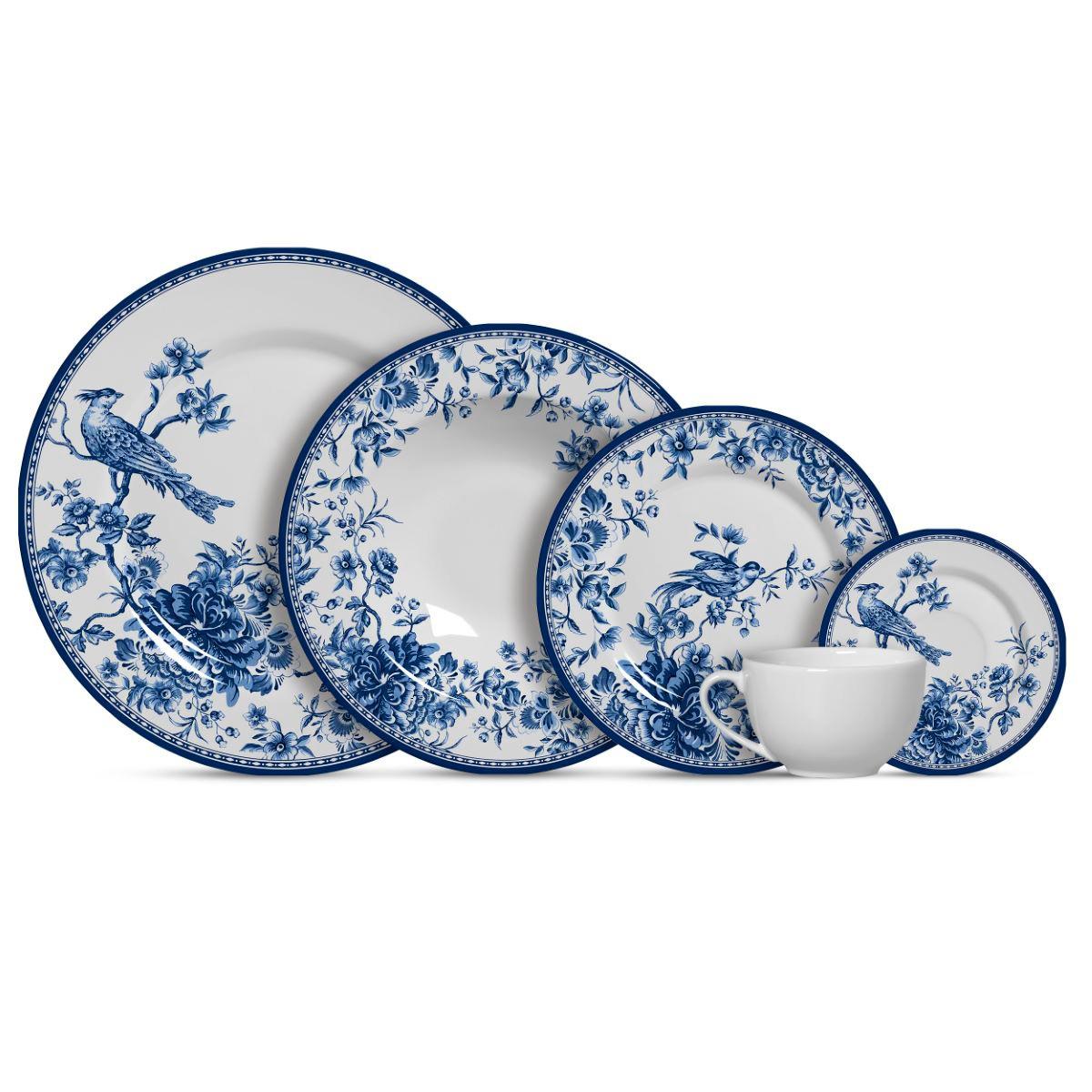 Aparelho de Jantar Cerâmica Chinese Garden 20 Pç
