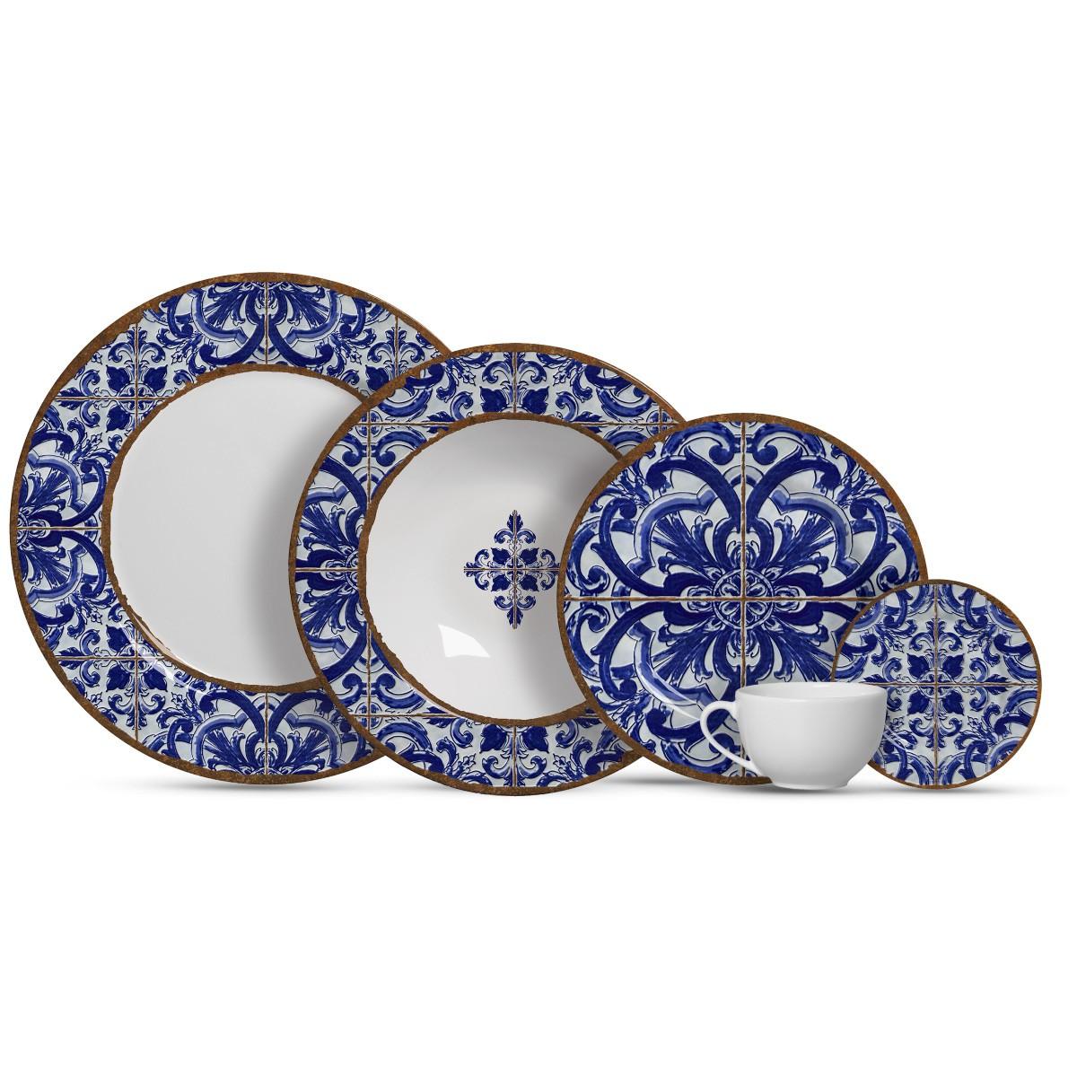 Aparelho De Jantar Cerâmica Coimbra 20 Pç