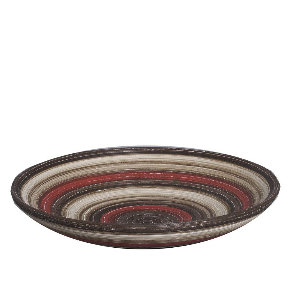 Centro de Mesa Bacia Cerâmica Vermelho e Marrom Terracota