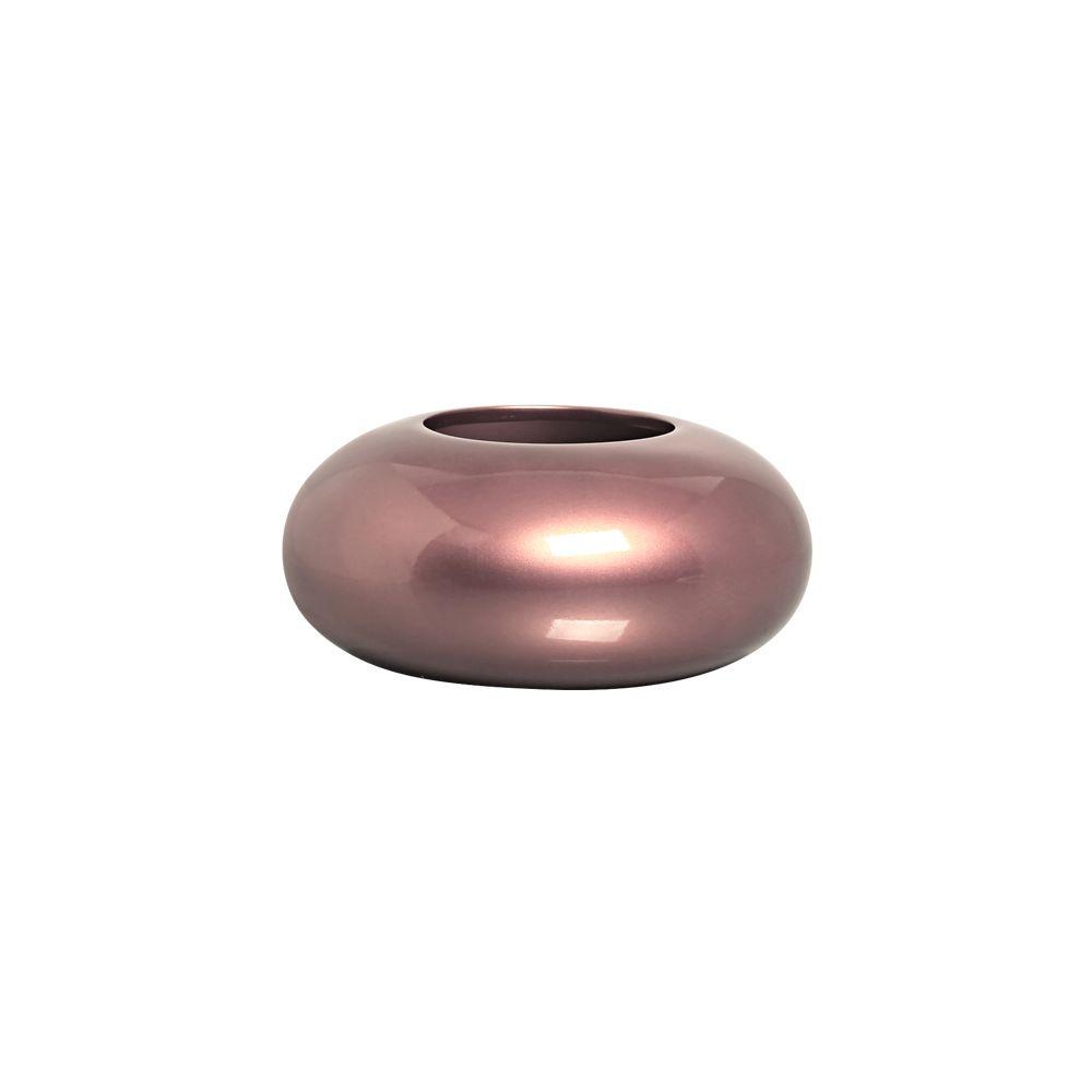 Cachepot Redondo Vaso G Decoração Em Cerâmica Rosé Gold