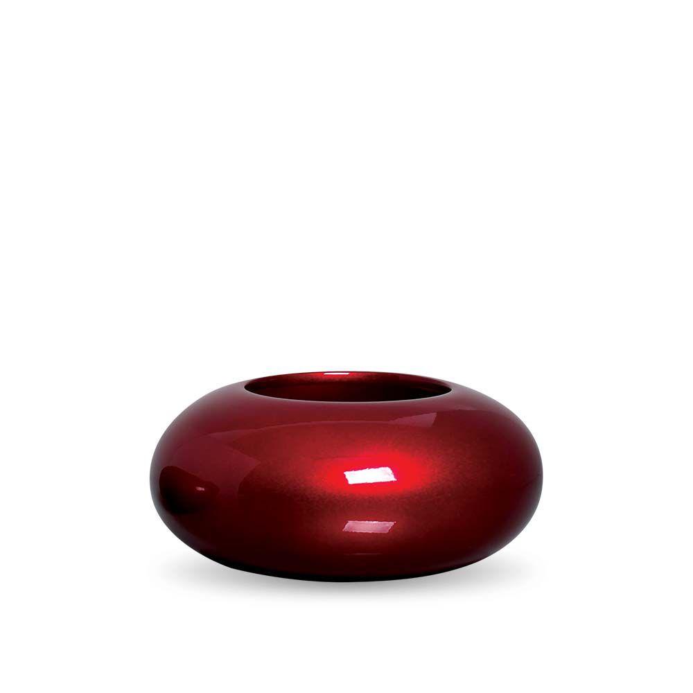 Cachepot Redondo Vaso M Decoração Em Cerâmica Vinho Scarlet
