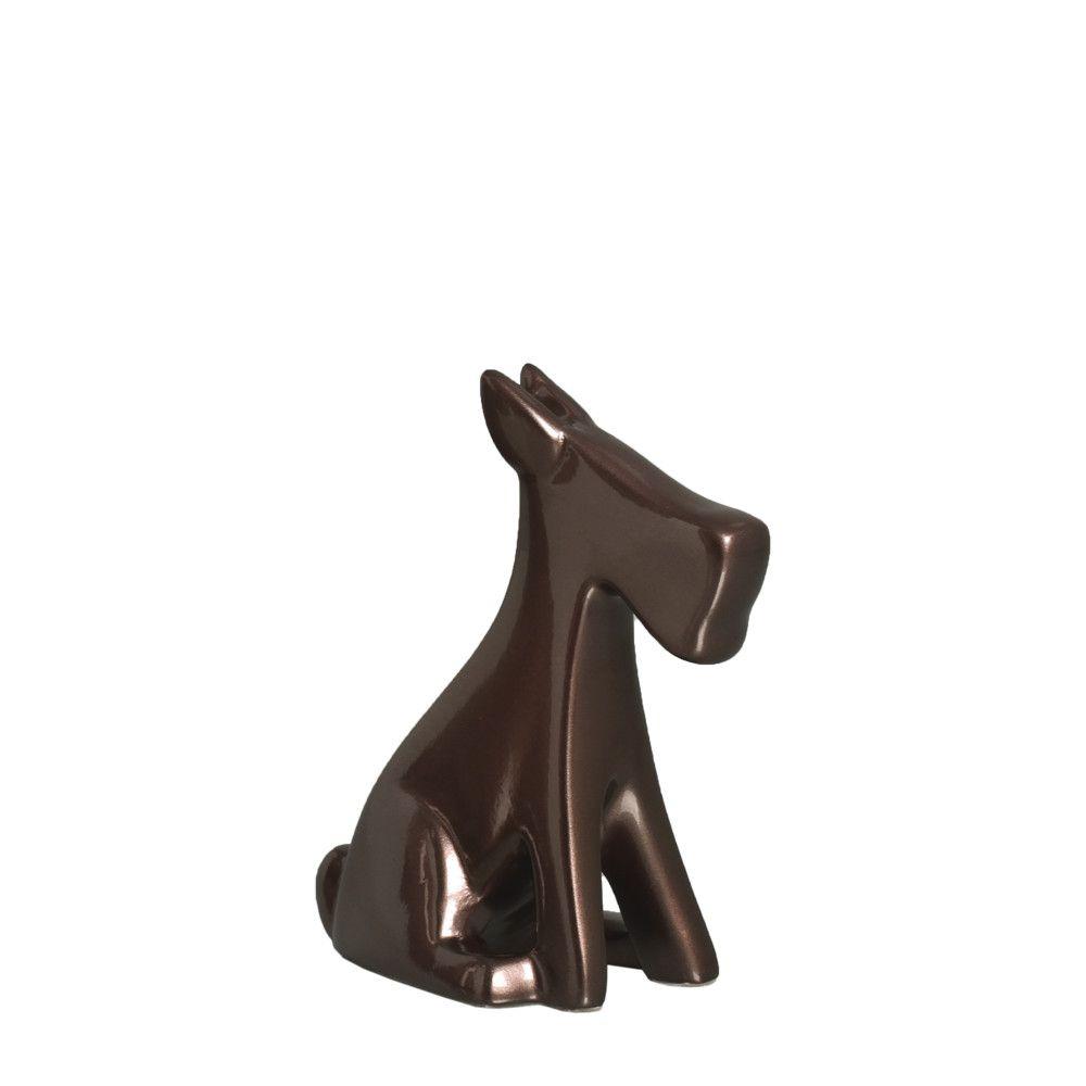 Cachorrinho P Escultura Decoração Pet Cerâmica Bronze