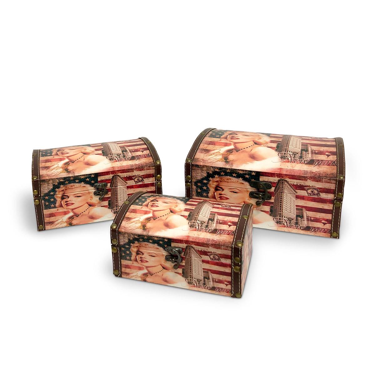 Caixa Organizadora Marilyn Monroe Trio de Caixas