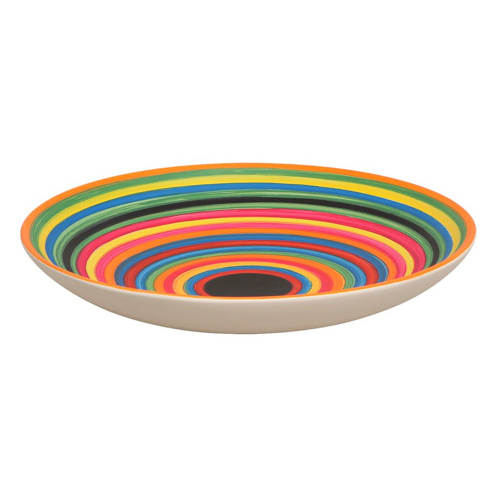 Centro de Mesa Bacia P Enfeite Cerâmica Colors