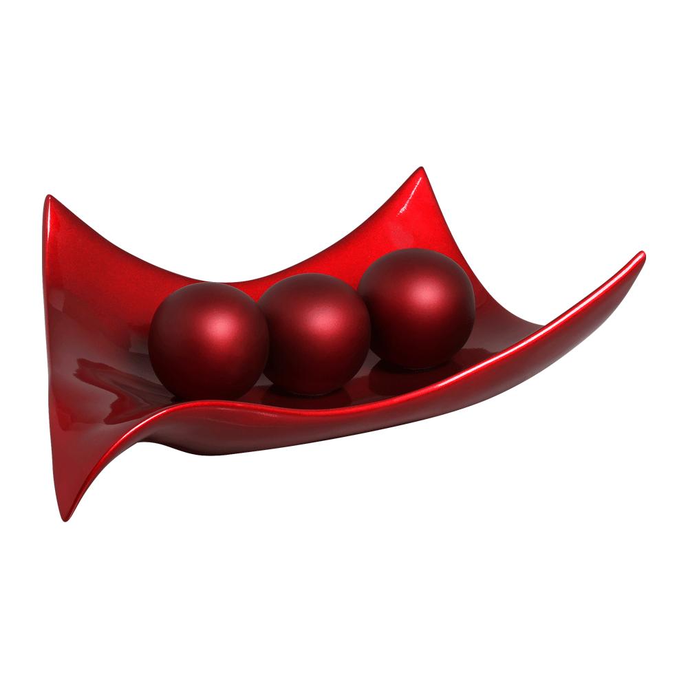 Centro de Mesa Classic Vinho Scarlet com Esferas Sensation