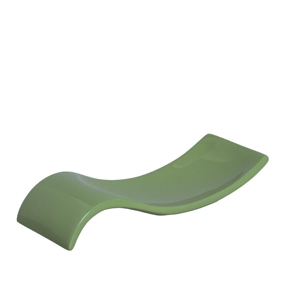 Centro De Mesa Safira P Fruteira Decoração Em Cerâmica Verde