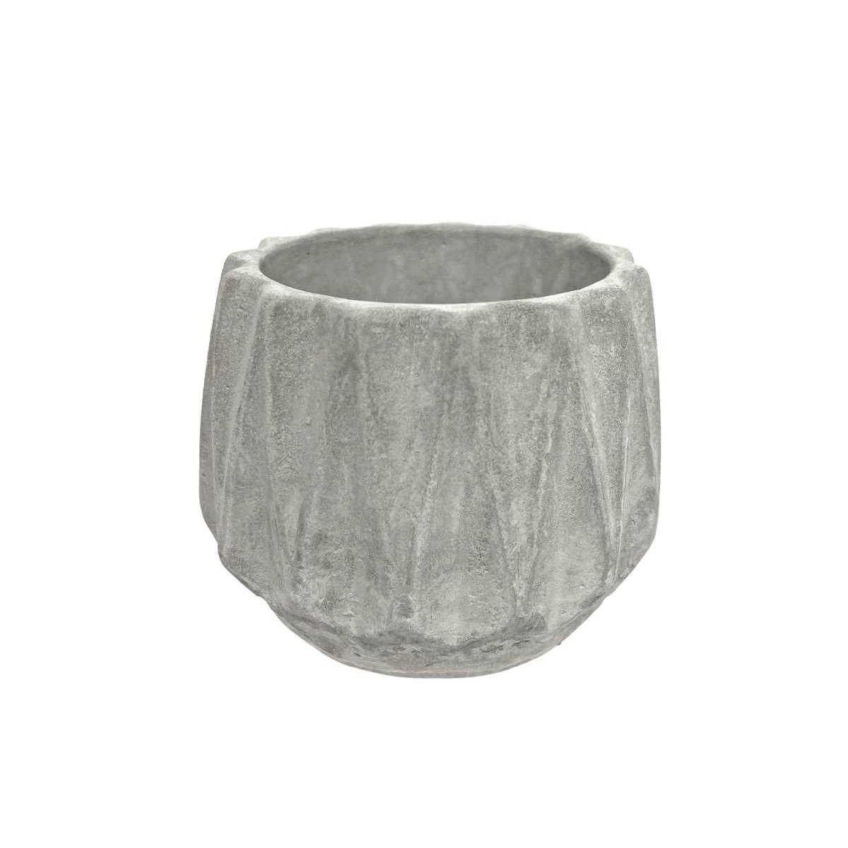 Vaso Cachepot de Cimento Lotus para Plantas e Jardim Vasinho de Suculentas