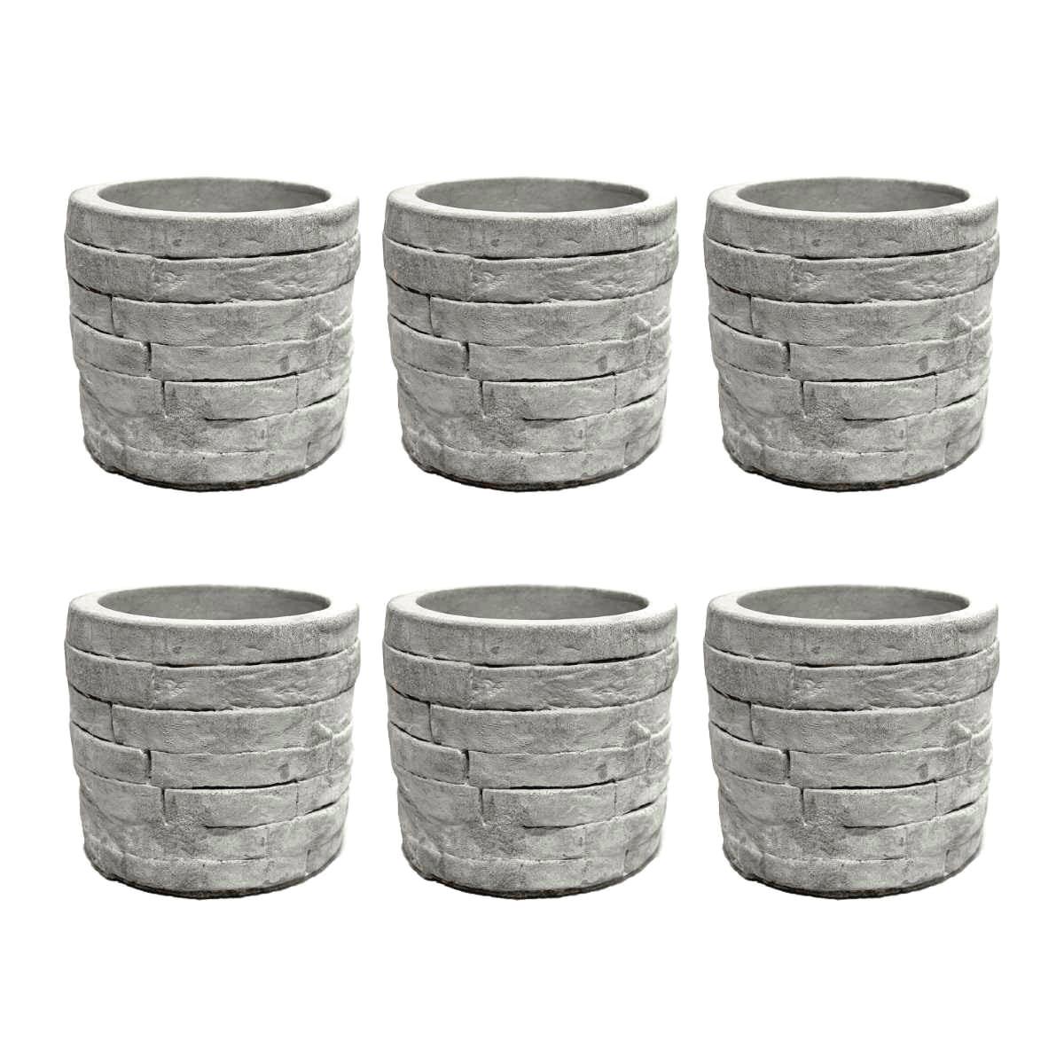 Kit Vaso de Cimento Poço para Plantas e Jardim Vasinho de Suculentas