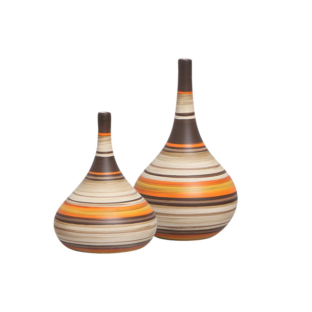 Vaso Decorativo Cerâmica Mesa Dupla Jasmim M e P New Sunset