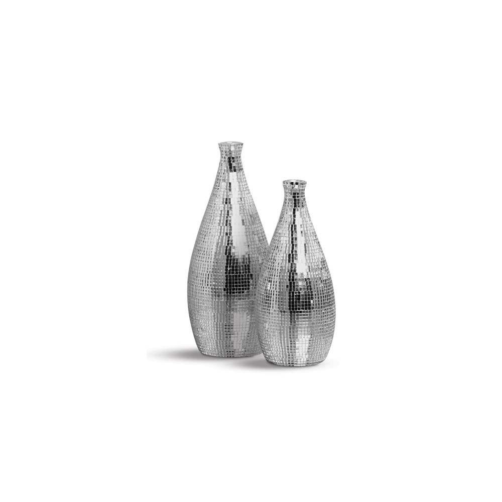 Dupla Garrafa Vaso Mel Decoração Em Cerâmica Espelhado Shine