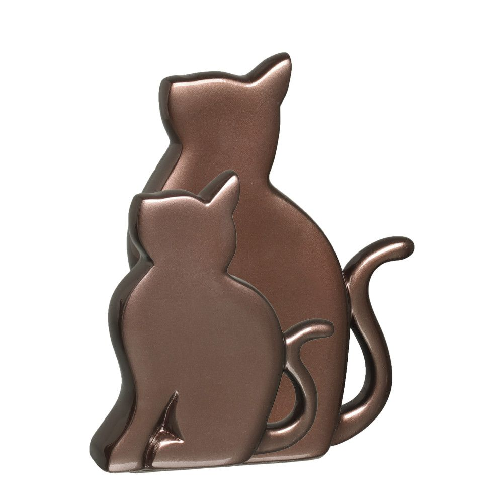 Gatinhos G E M Enfeite Decoração Pet Cerâmica Bronze