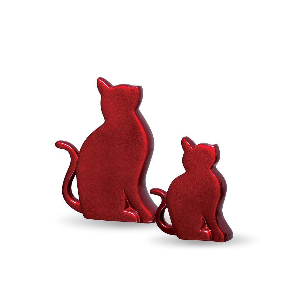 Enfeite Gatinhos G E P Decoração Em Cerâmica Vinho Scarlet