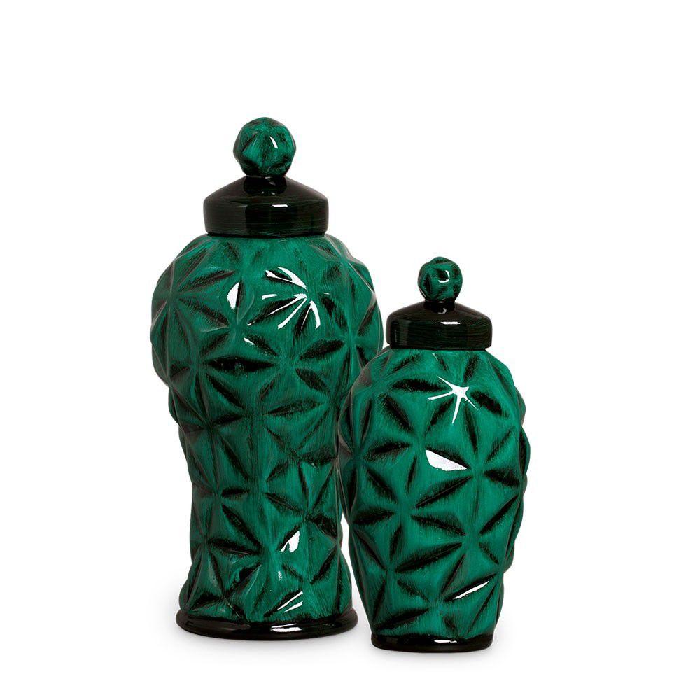 Dupla Pote Diamante Malaquita Verde