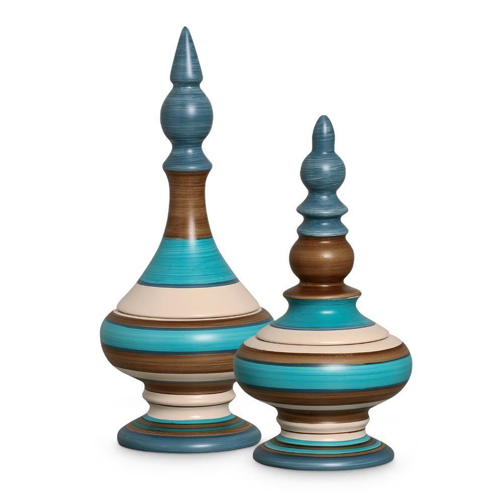 Dupla Pote Nobre Decoração Cerâmica Paraty