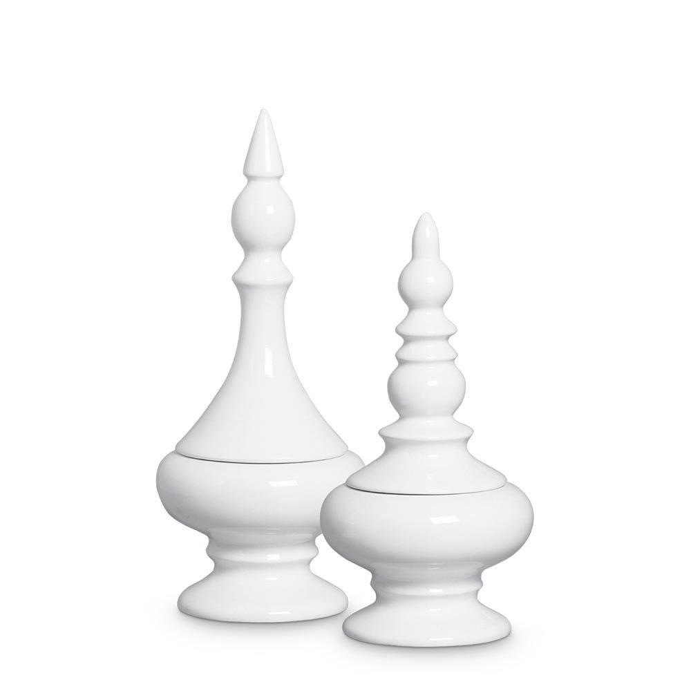 Dupla Pote Nobre Cerâmica Clássica Branca
