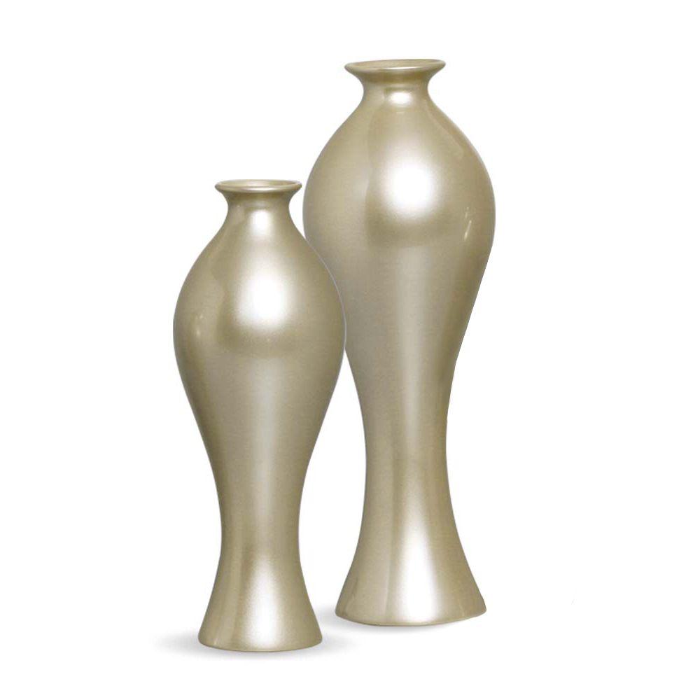 Vaso Califórnia G E M kit Decoração Em Cerâmica Fendi Chrome