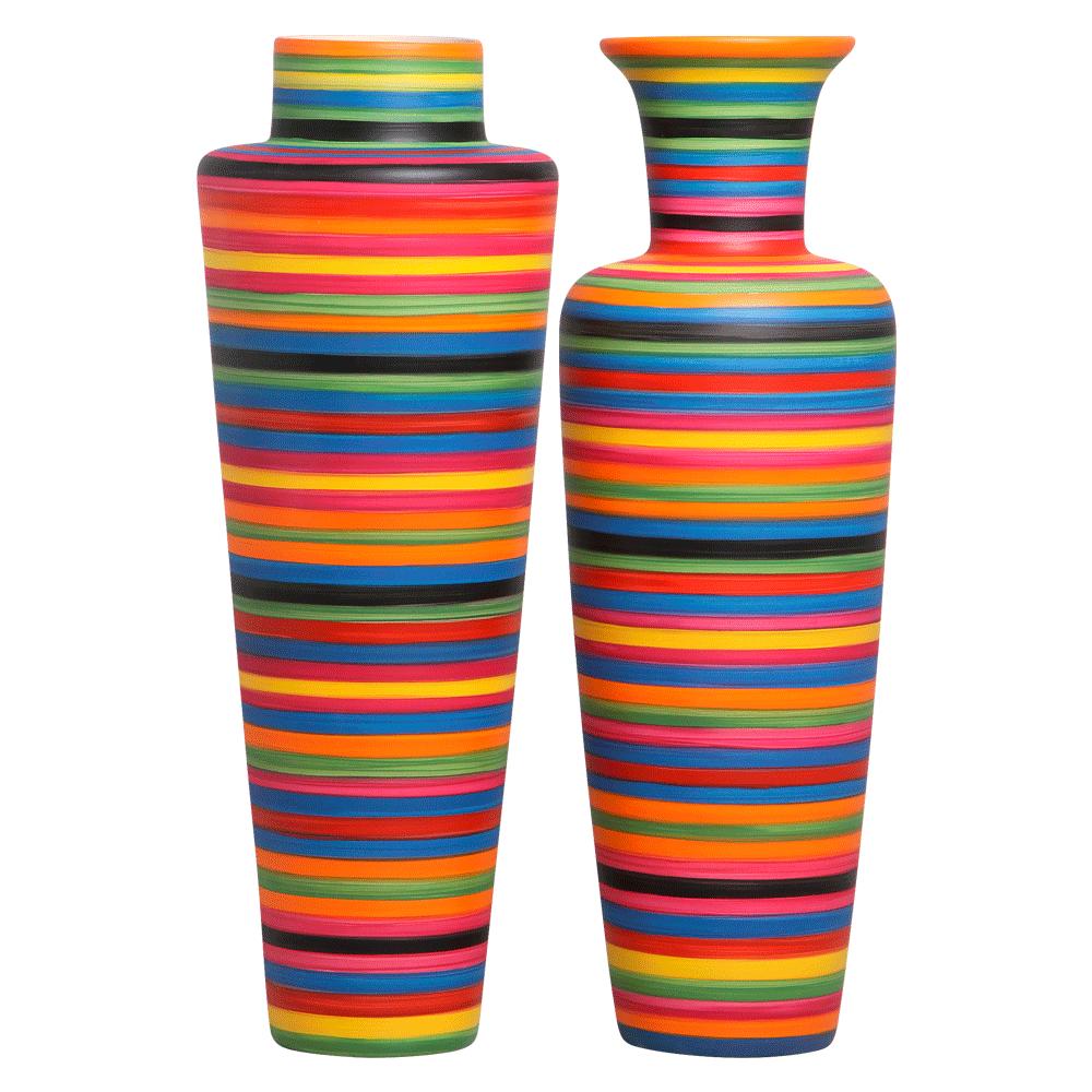 Vaso de Chão Decorativo Grande Colorido Para Sala Paris e Madri