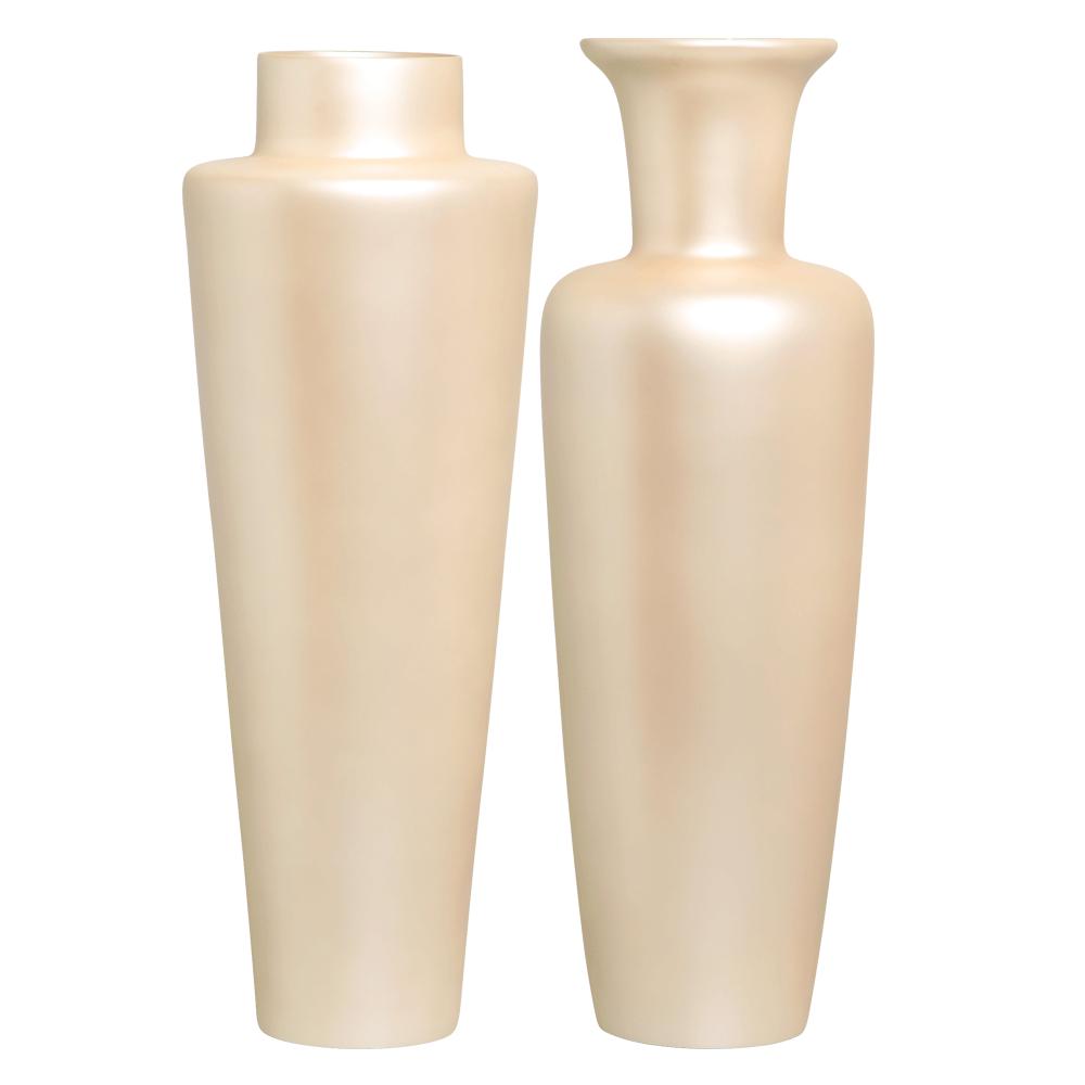 Vaso de Chão de Cerâmica Decoração para Sala Paris e Madri Creme