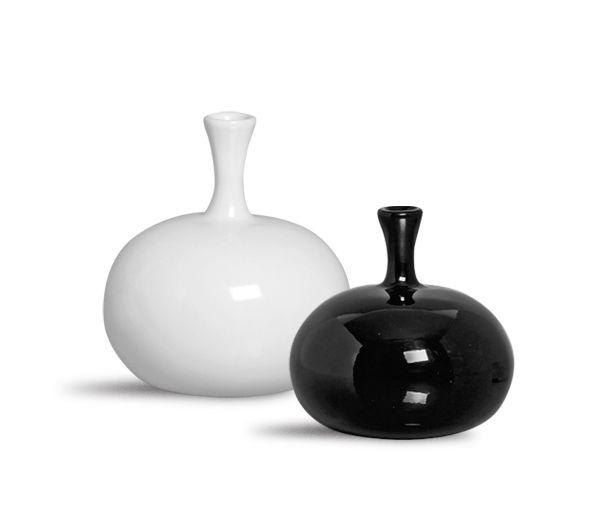 Dupla Vaso Turim Decoração Clássica Preto e Branco