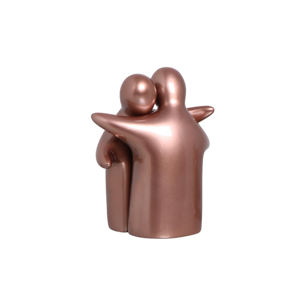 Enfeite de Mesa Enamorados Decoração em Cerâmica Rosé Gold