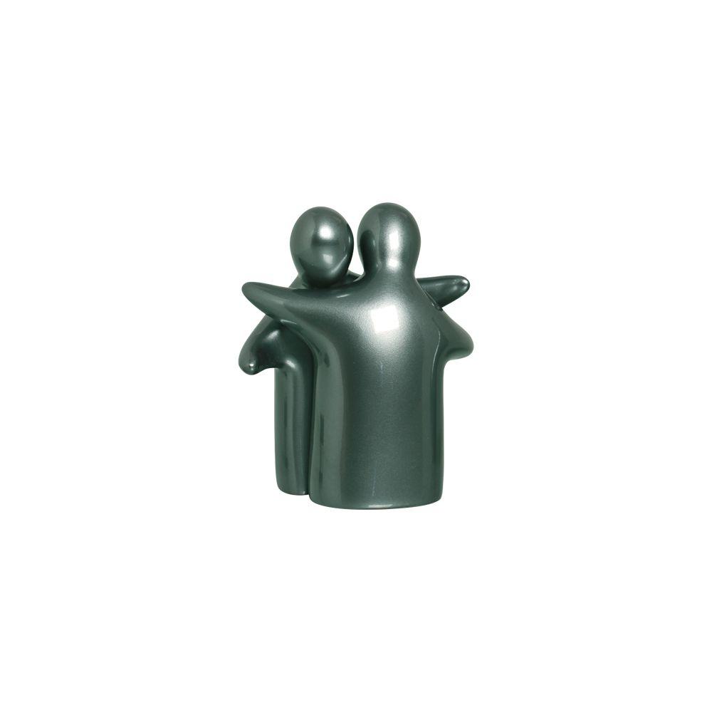 Enfeite De Mesa Enamorados Decoração Cerâmica Verde Perolado