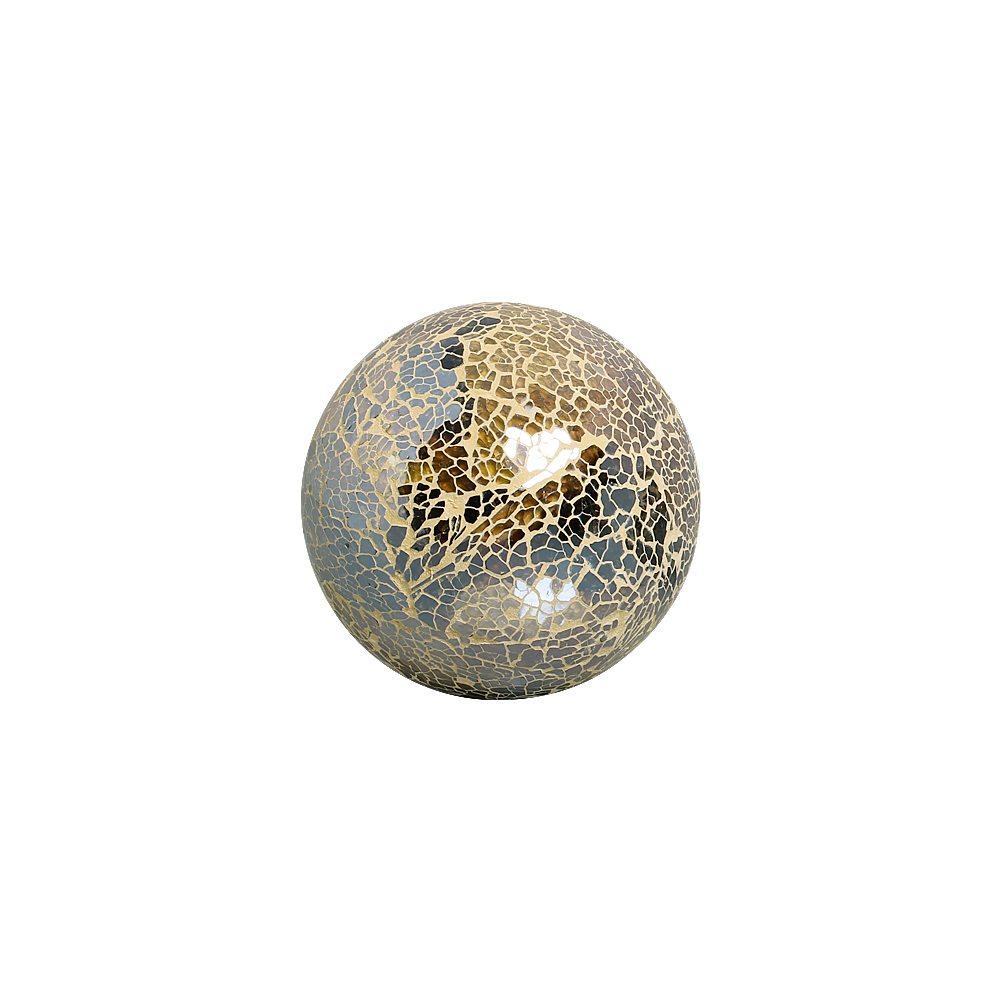 Esfera Decorativa Dark Fendi G Textura Em Vidro Craquelê