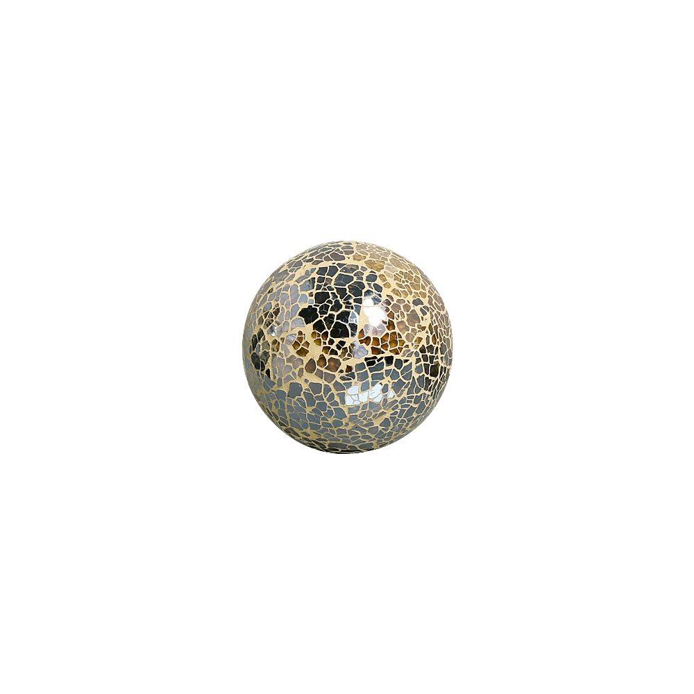 Esfera Decorativa Dark Fendi P Textura Em Vidro Craquelê