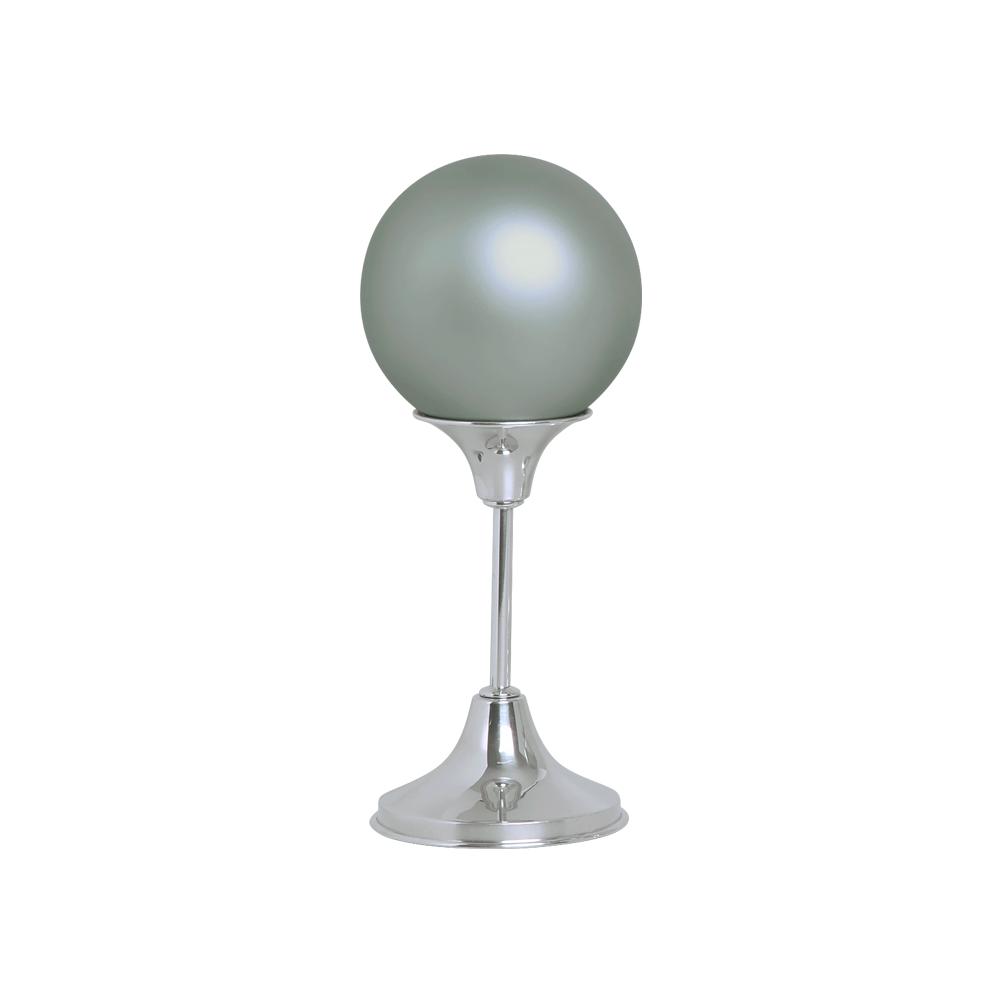 Esfera G com Pedestal Alumínio Decoração Cerâmica Cinza Fosco