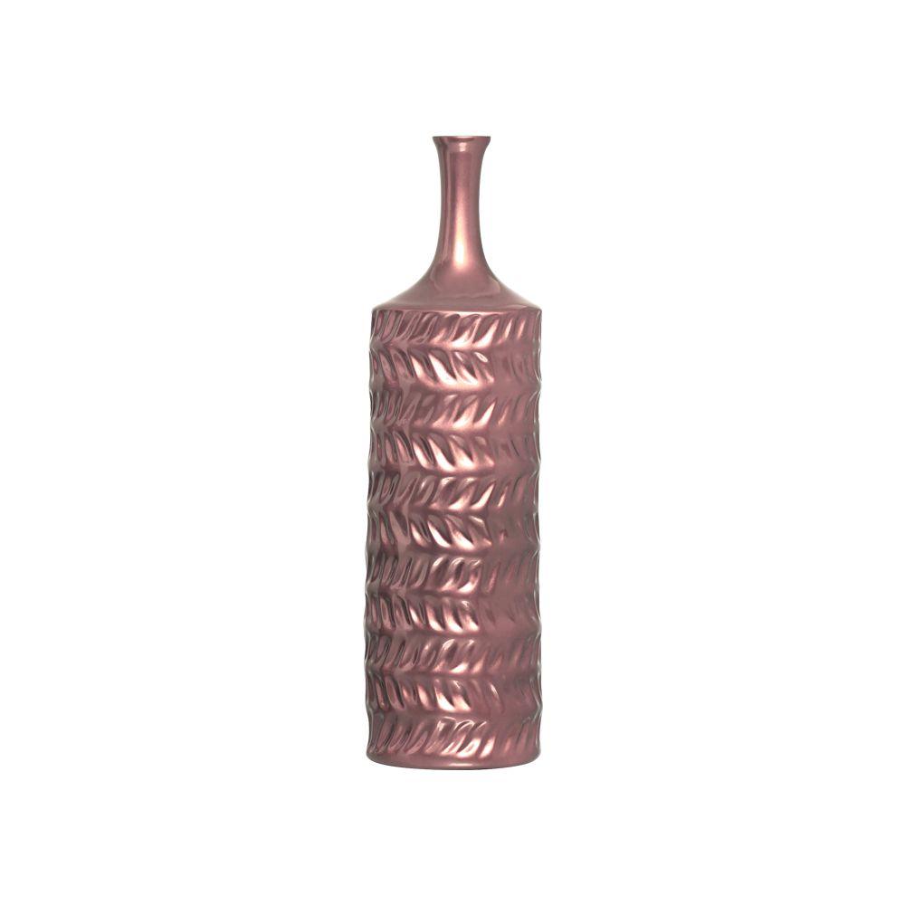 Garrafa Ágata P Decoração Em Cerâmica Rosé Gold