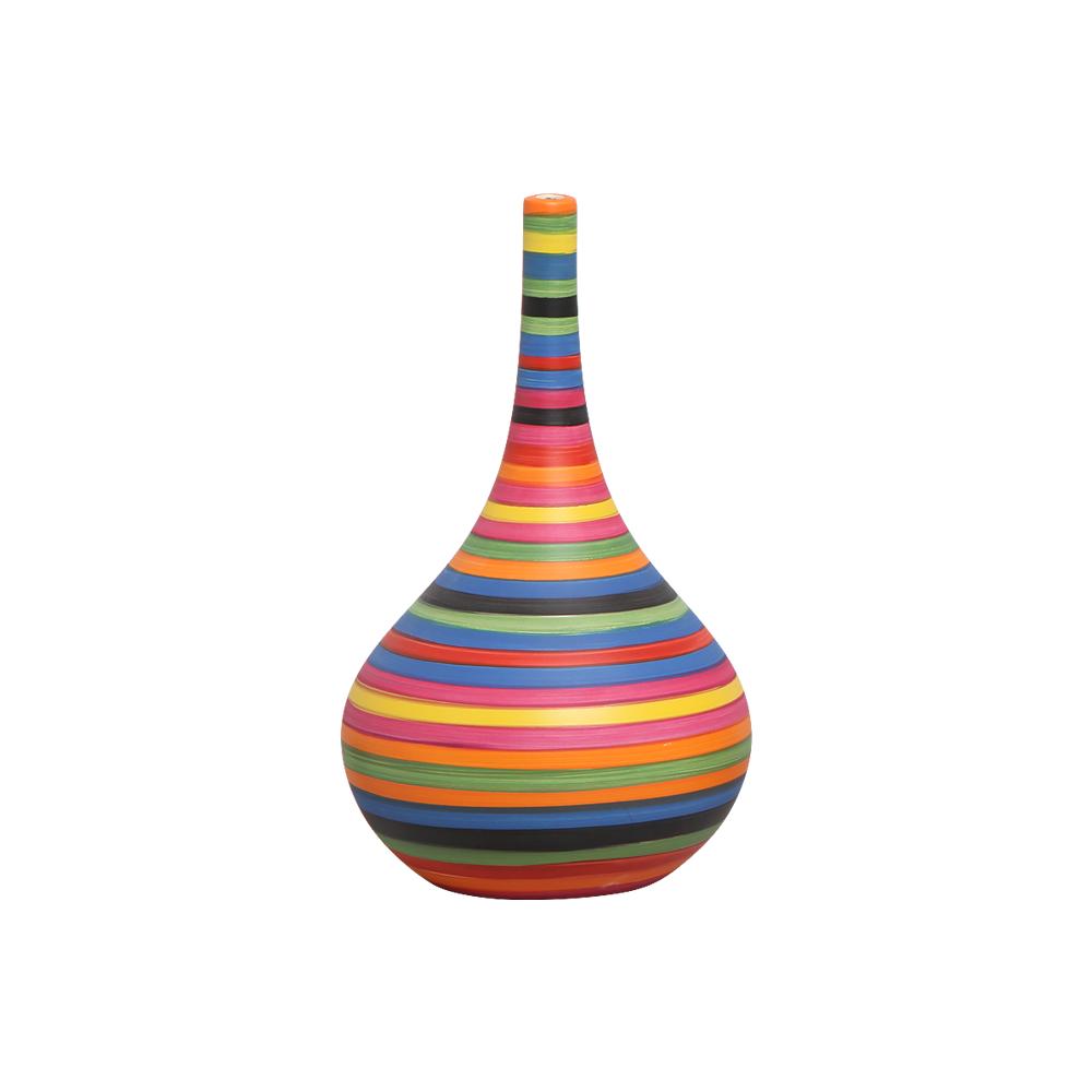 Garrafa Colorida Jasmim M Decoração Cerâmica Colors