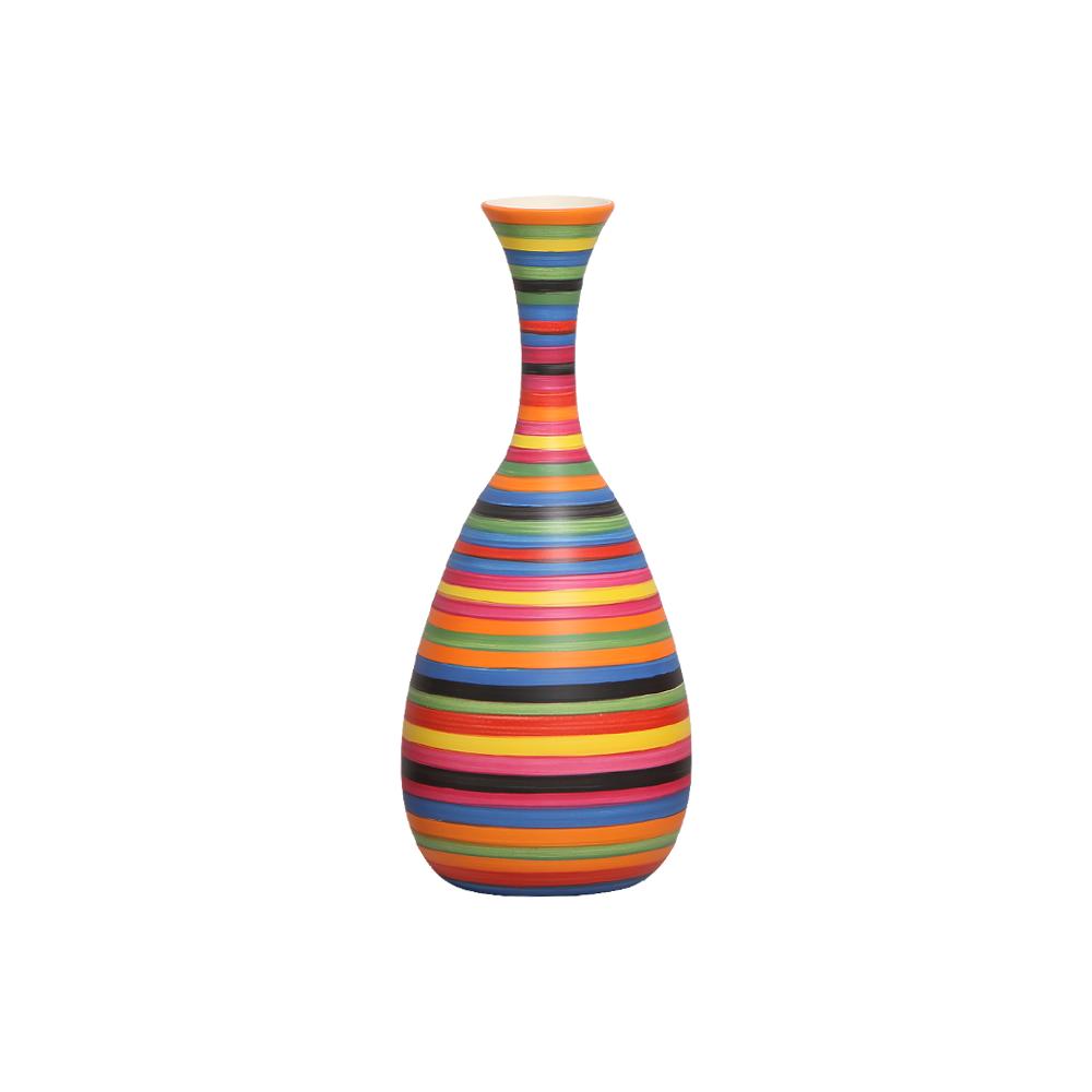 Garrafa Decorativa Asteka Decoração Cerâmica Colors