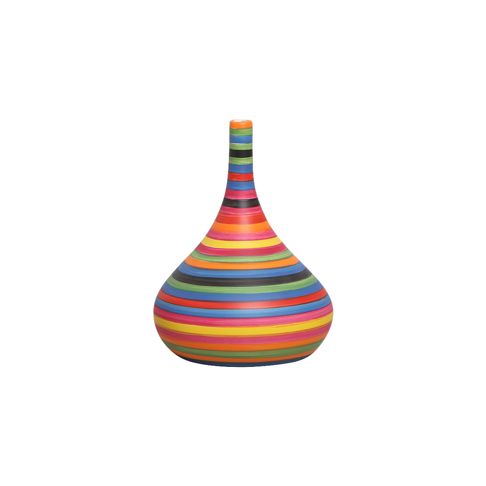 Garrafa Jasmim P Enfeite Decoração Cerâmica Colorida Colors