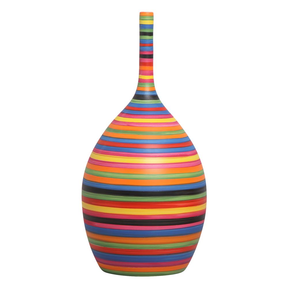 Garrafa Colorida Luna G Decoração Em Cerâmica Colors