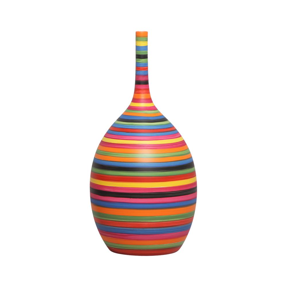 Garrafa Luna P Enfeite De Mesa Decoração Cerâmica Colors
