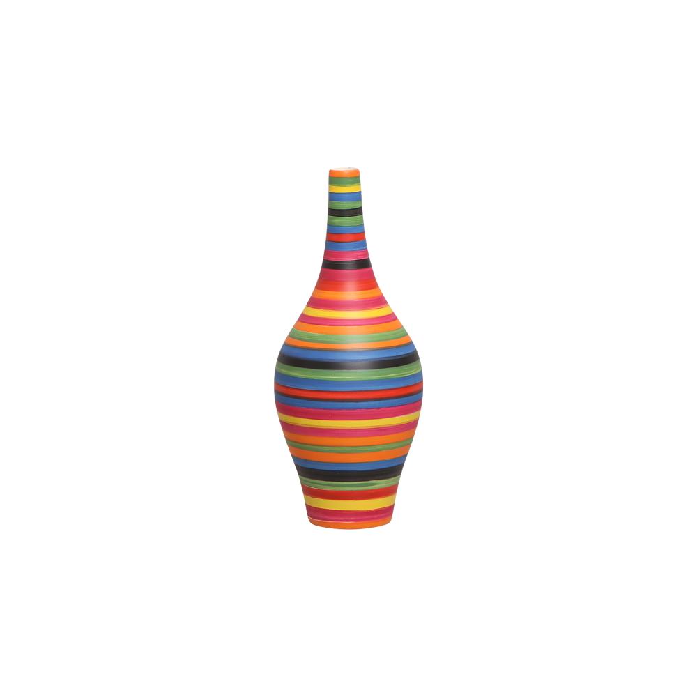 Garrafa Decorativa Styllo P Colorida Enfeite Cerâmica Colors