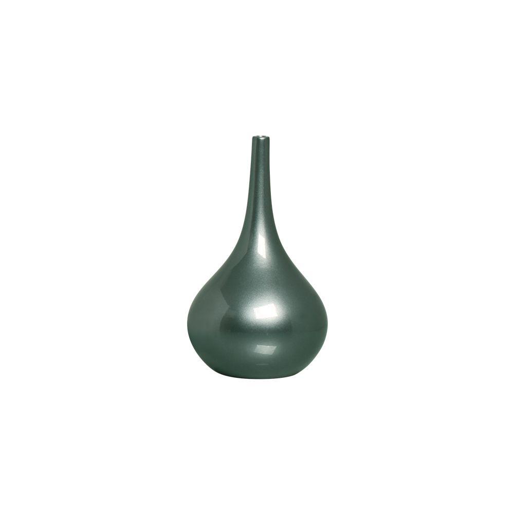Garrafa Jasmim M Decoração Cerâmica Enfeite Verde Perolado