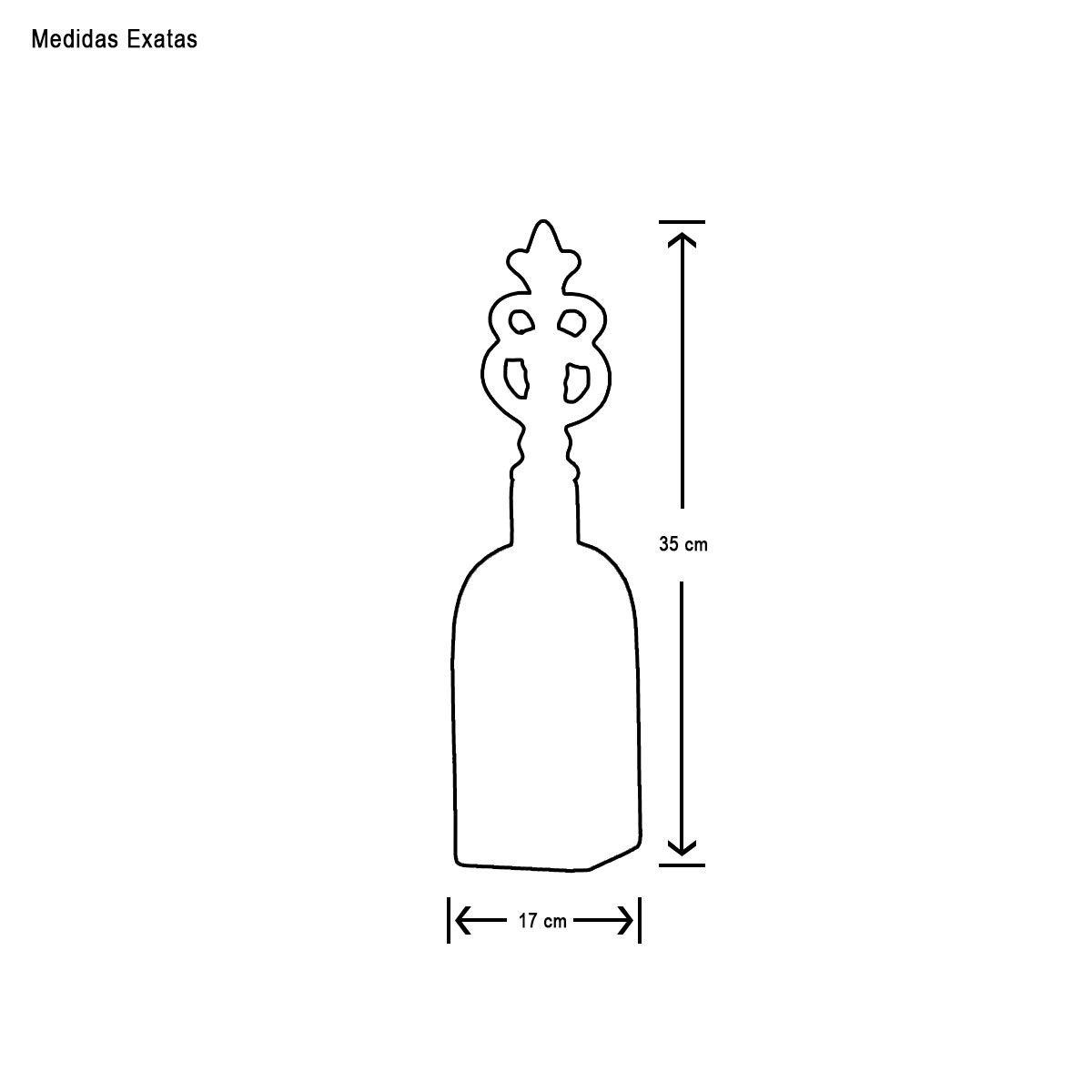 Garrafa Lins M Decoração Em Cerâmica Vinho Sensation