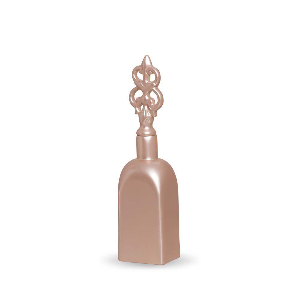 Garrafa Lins M Decoração Em Cerâmica Rosé