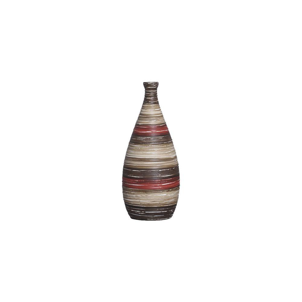 Garrafa Mel P Decoração Cerâmica Vermelho e Marrom Terracota