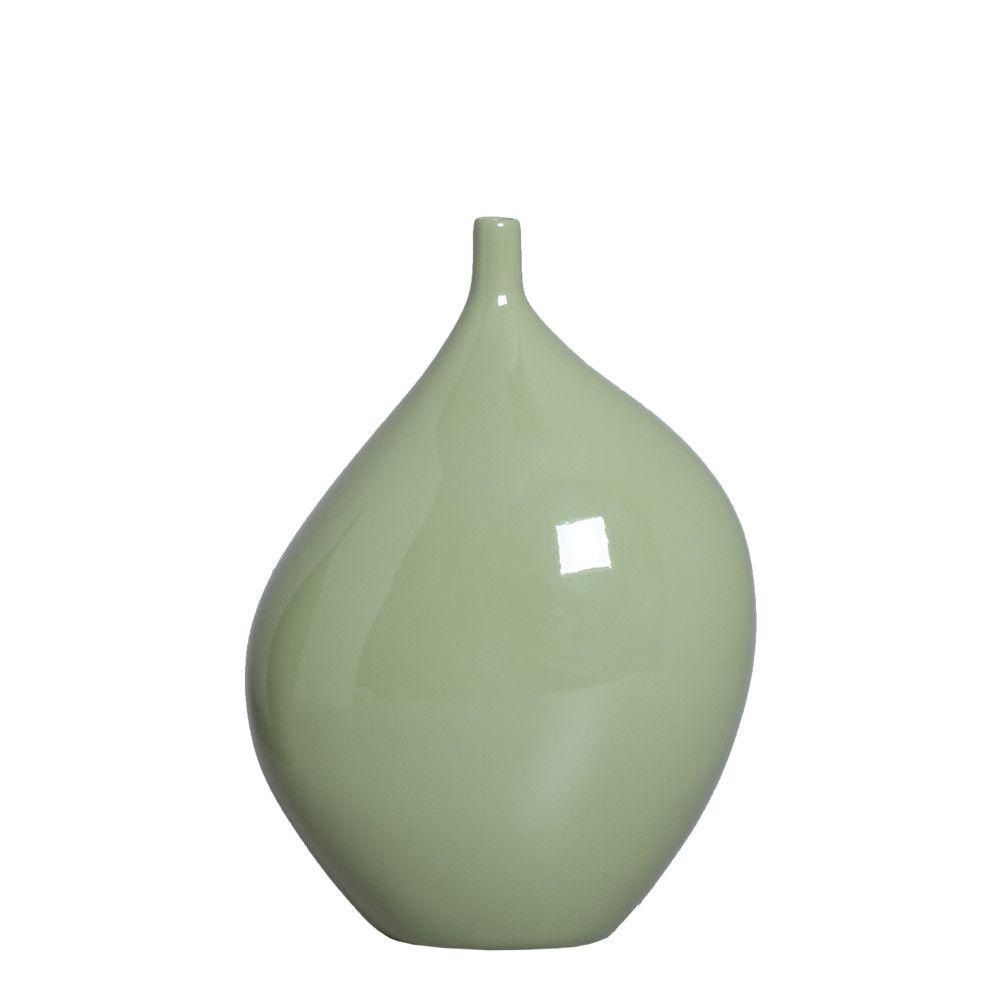 Garrafa Munique P Enfeite de Mesa Decoração Cerâmica Verde