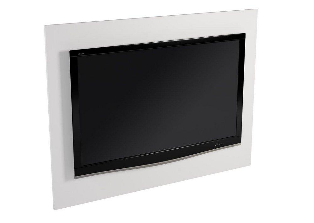 Painel Para Tv Suspenso Unique para Sala e Quarto Branco