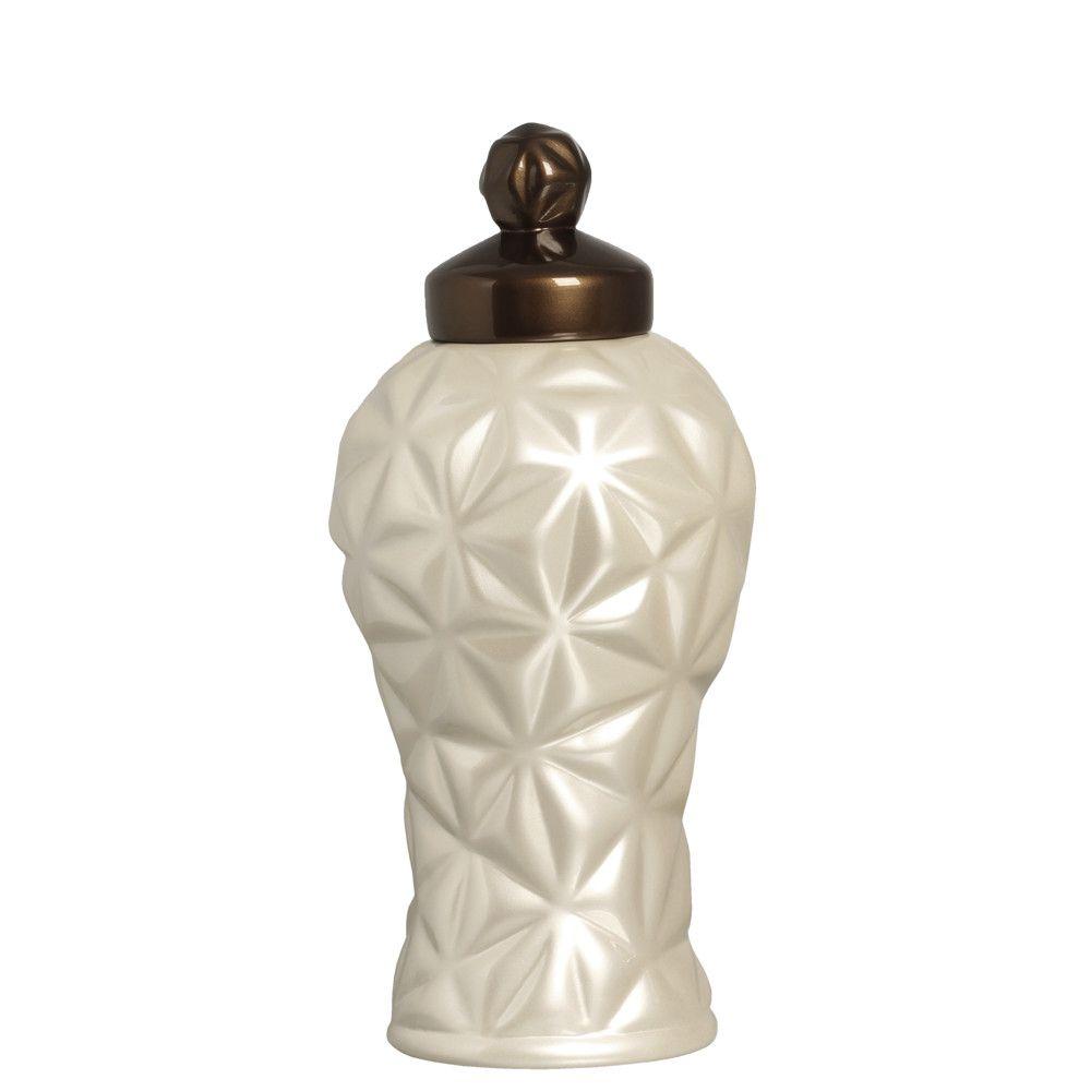 Pote Diamante G Decoração Em Cerâmica Fendi E Capuccino