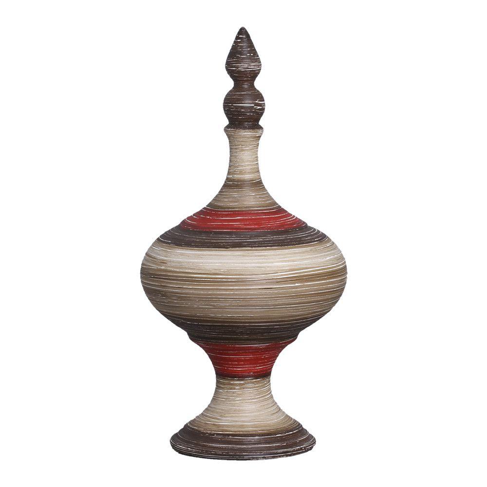 Pote Medieval G Decoração Cerâmica Vermelho e Marrom Terracota