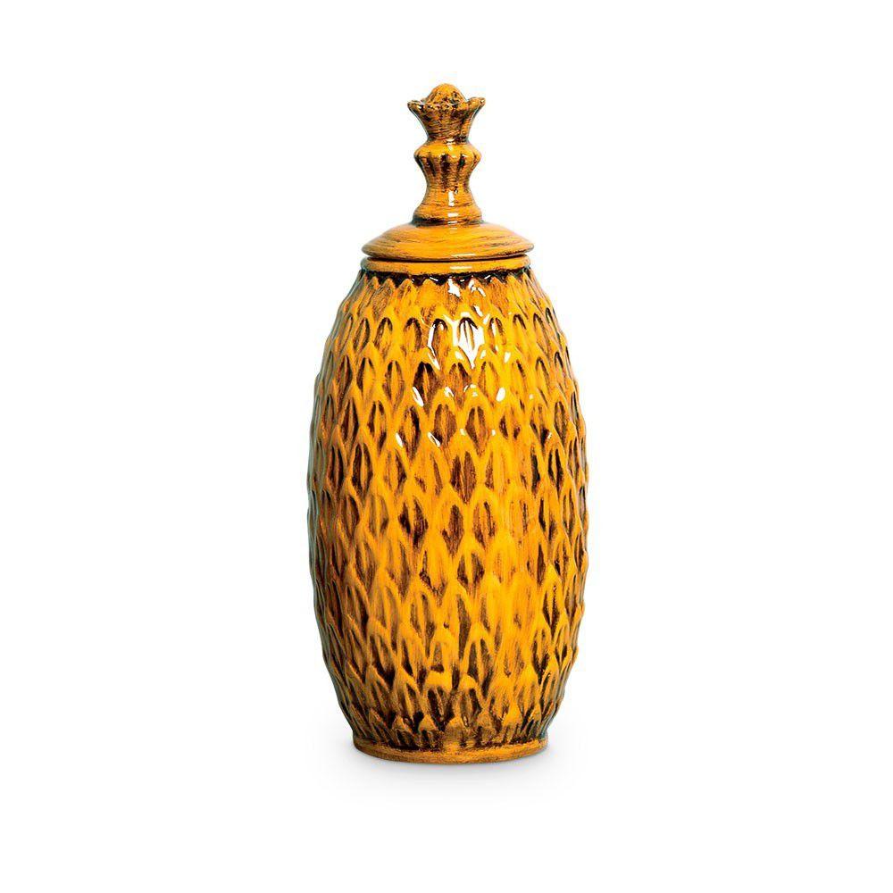 Pote Real Decoração Cerâmica Malaquita