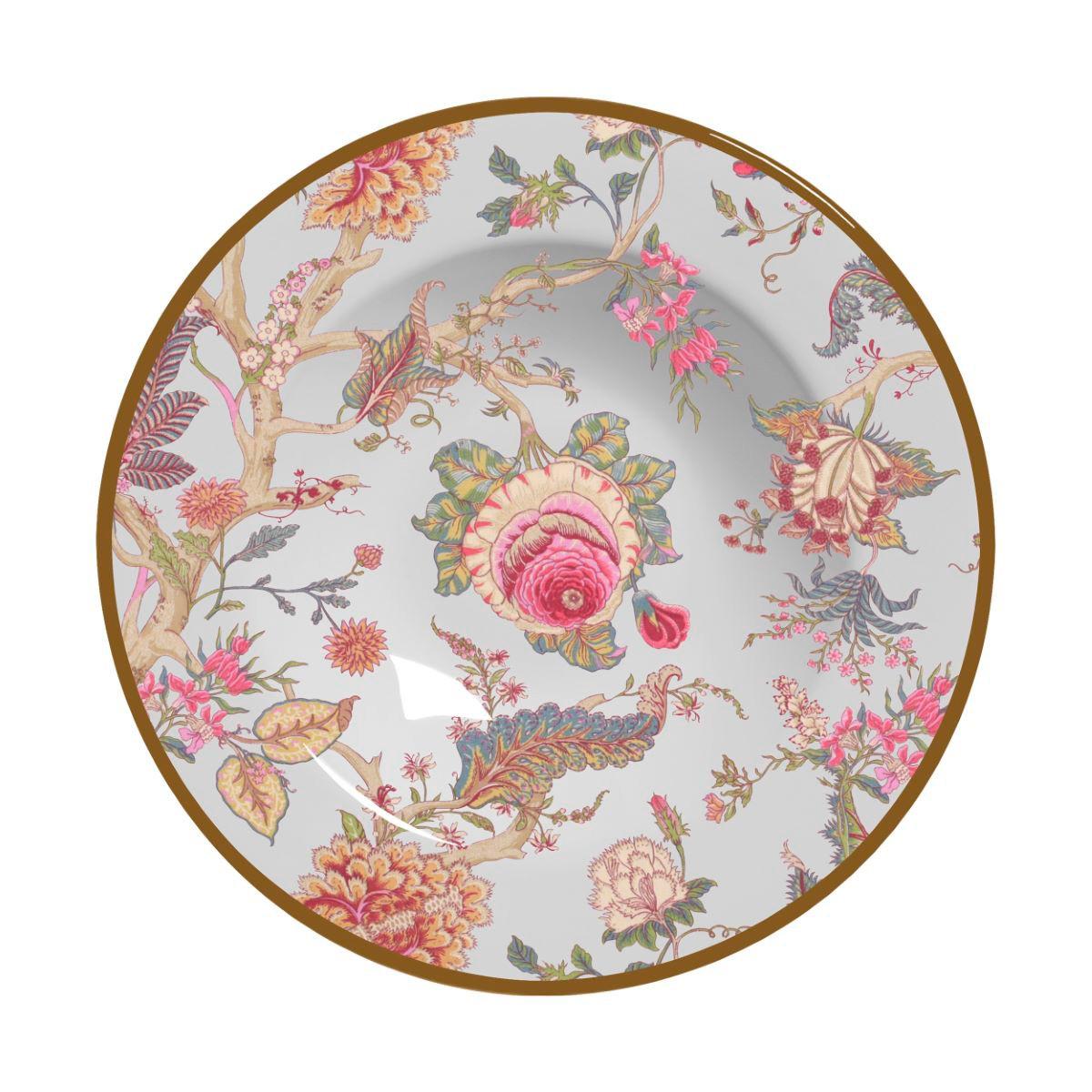 Prato Fundo China Flowers Branca