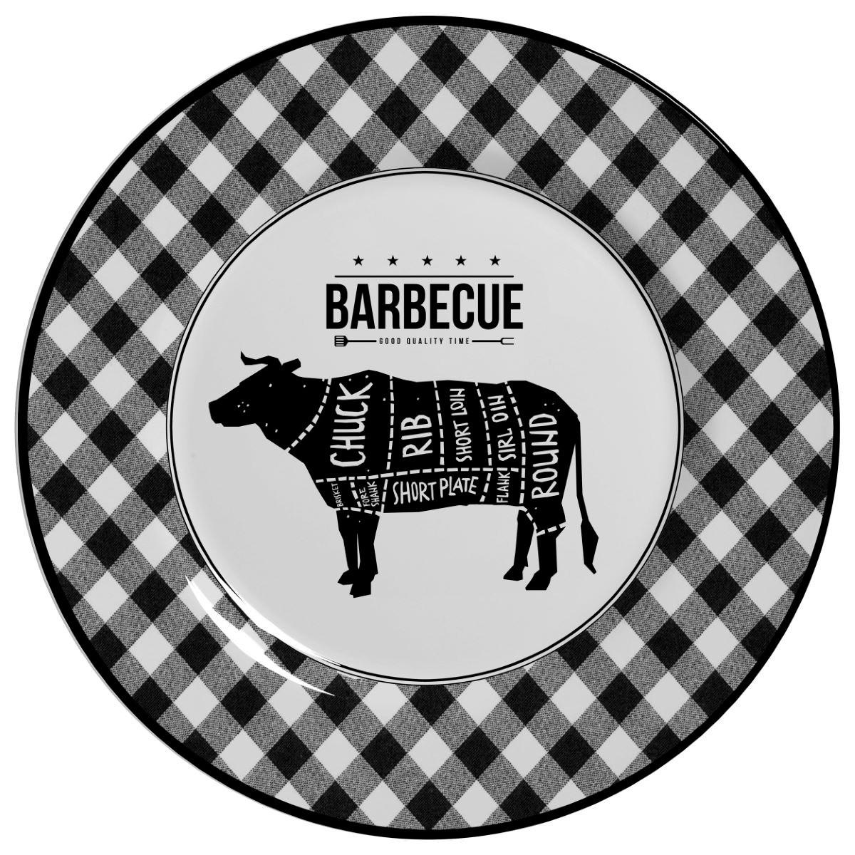 Prato Raso Barbecue Alleanza - 6 Peças
