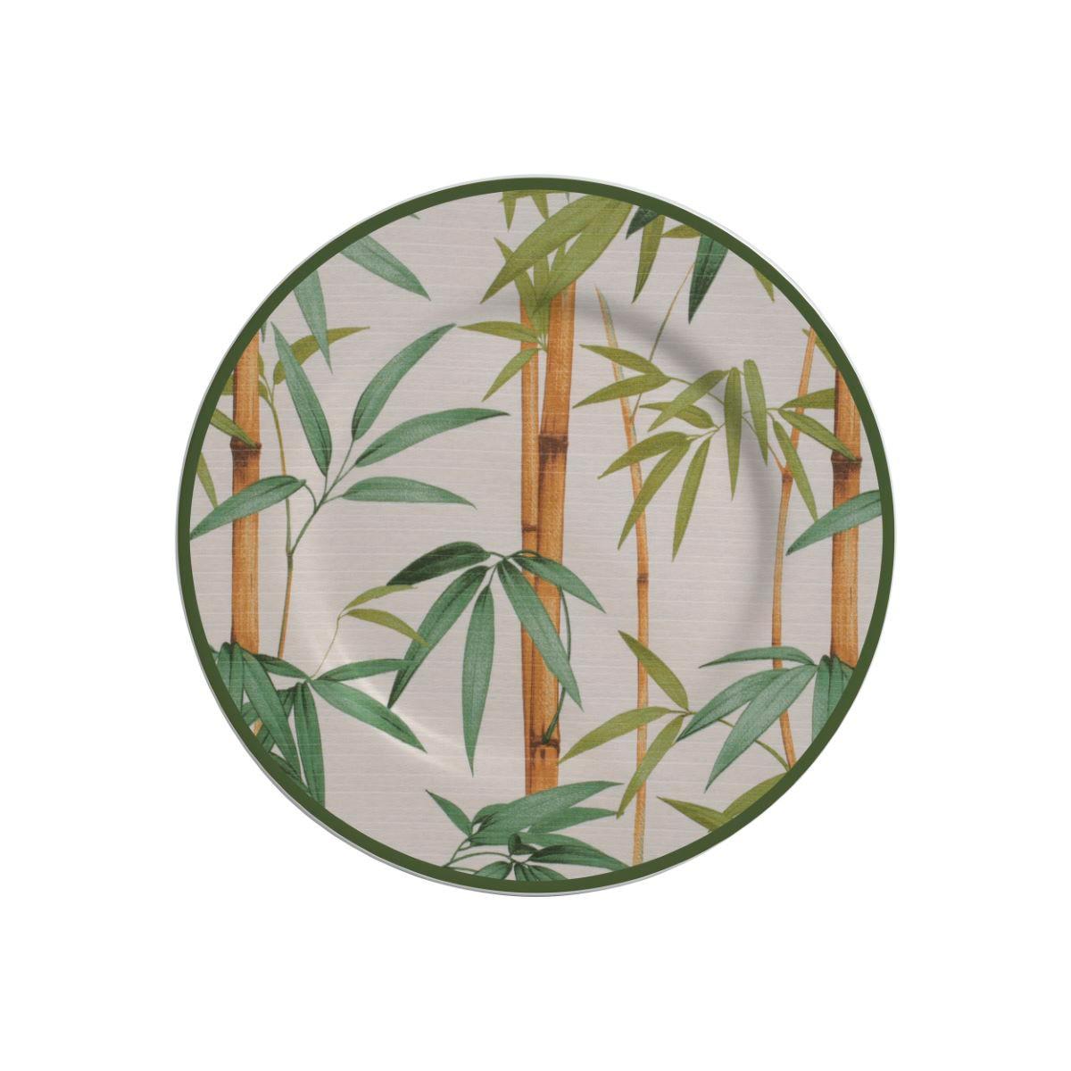 Prato Sobremesa Bambu Cerâmica Alleanza - 6 Peças