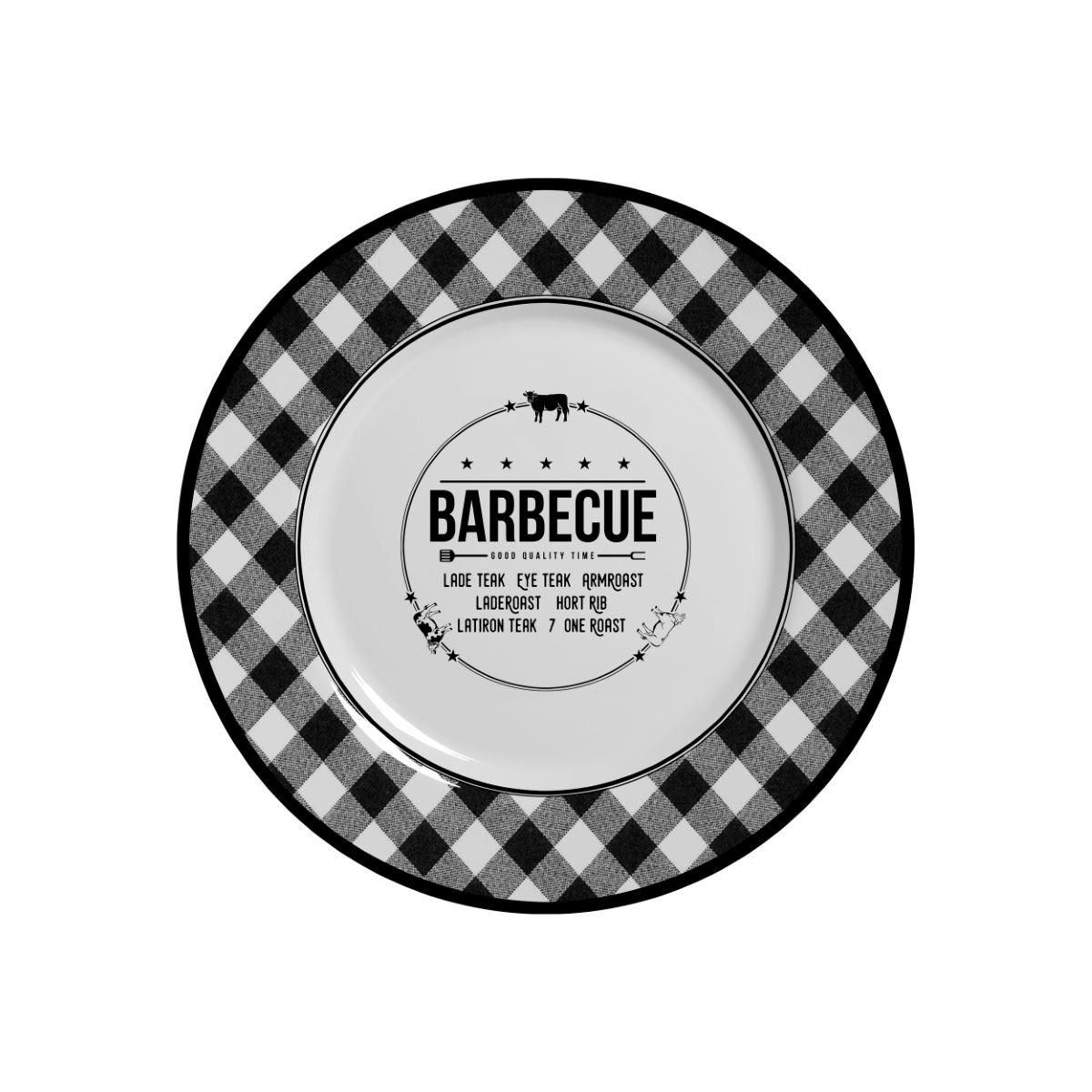 Prato Sobremesa Barbecue Alleanza - 6 Peças