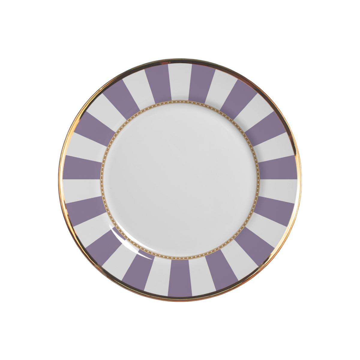 Prato Sobremesa Lavender Strip